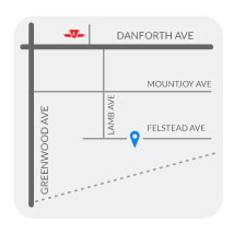 Childspace Daycare Centre 3 located at the Danforth and Greenwood area